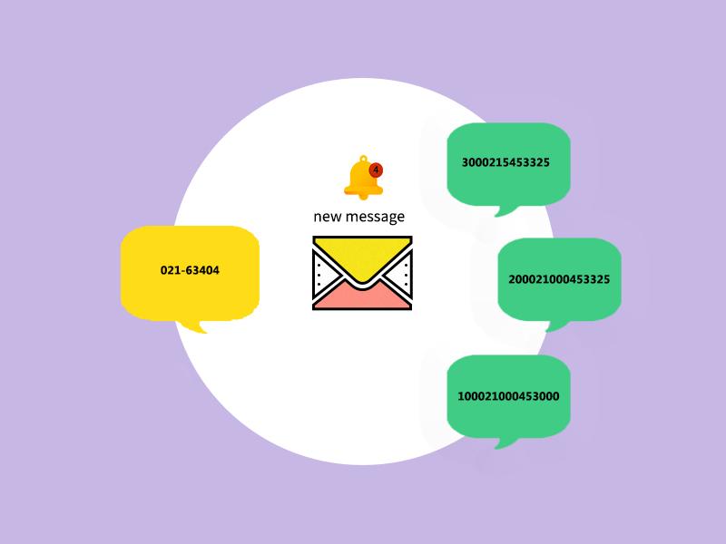 تفاوت بین پیام هایی که از شماره های مجازی تبلیغاتی ارسال میشوند و شماره خط ثابت شرکت