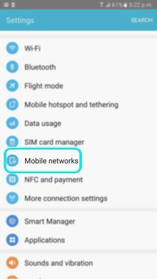 فعال سازی تنظیمات اینترنت همراه اول اندروید