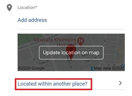 ثبت مکان روی نقشه