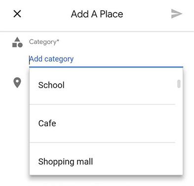 دسته بندی کسب و کار در گوگل مپ