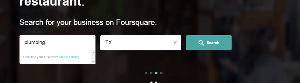 Foursquare Business Listing Step 5