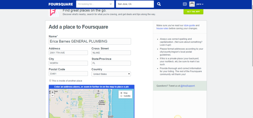 Foursquare Business Listing Step 7