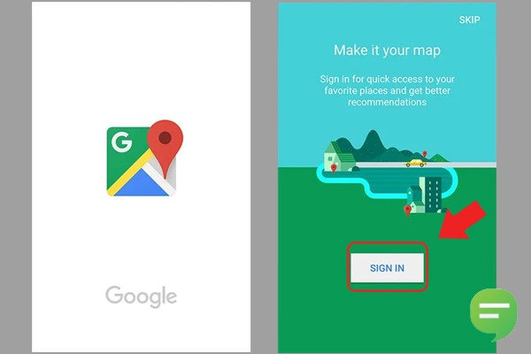 راهنمای نقشه گوگل