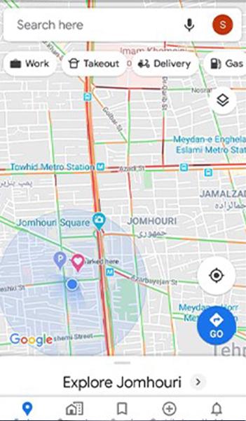 راهنمای گزینه ها در گوگل مپ