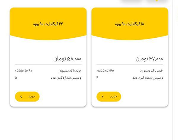 خرید بسته اینترنت ایرانسل