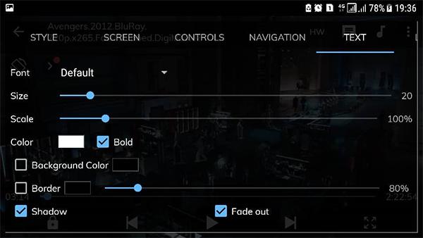 فعال کردن زیرنویس در mx player