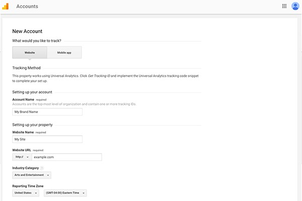 روش ثبت نام در گوگل آنالیتیکس