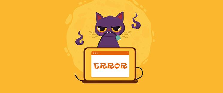 یک خطای مهم در سایت شما رخ داده است!!