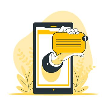 ارسال پیامک لغو برنامه ها